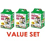 Fujifilm Instax Mini Instant Film, 2 x 10 Shoots x 3Pack (Total 60 Shoots) Value Set (With our shop original product description)