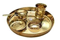Rastogi Handicrafts bronze Dinner set (Kansa Thali)