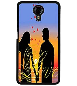 ColourCraft Loving Couple Design Back Case Cover for MICROMAX CANVAS XPRESS 2 E313