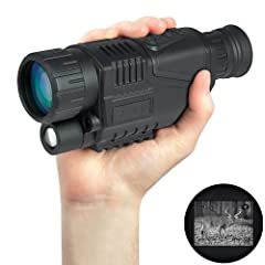 WG-37 5 Mega Pixels 5x40 Digital Night Vision Monocular Gen 2+ 200m Photos &... by Coshinegroup