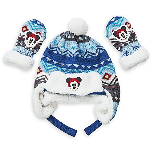Disney Mickey Mouse Winter Hat and Mittens Set Baby 18-24 Mo