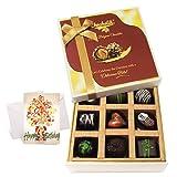 Delicious Dark Chocolate Treats With Birthday Card - Chocholik Luxury Chocolates
