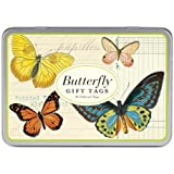 Cavallini Gift Tags Butterflies, 36 Assorted Gift Tags