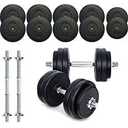 TNP Accessories® Dumbbell Weights Set 15KG / 20KG / 30KG / 40KG / 50KG Dumbbells Bar Set (50.0)