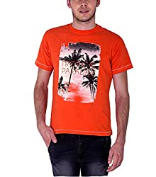 Sera Mens Summer Graphic Tee (ME1008_Orange _Medium)