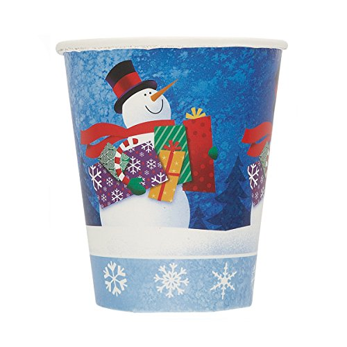 9oz Snowman Gifts Holiday Paper Cups, 8ct