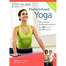 Stott Pilates Pilates-Infused Yoga DVD (Set of 2)