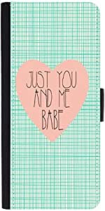 Snoogg Just You And Me Babe Designer Protective Phone Flip Case Cover For Samsung Galaxy E5