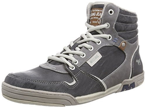 Mustang - High Top Sneaker, Alte Scarpe Da Ginnastica da uomo, grigio (200 stein), 41