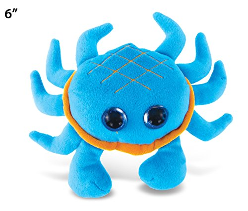 "Puzzled Big Eye Blue Crab Plush, 6"" - 1"
