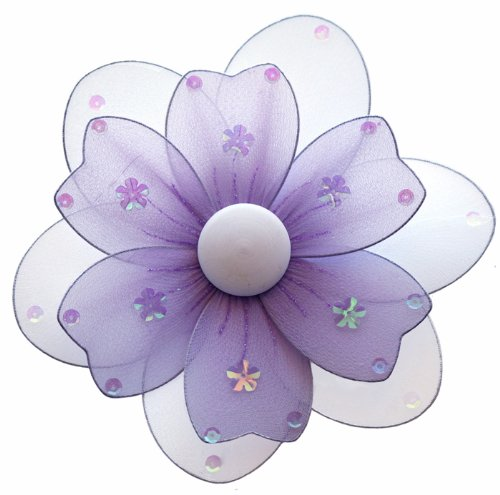 "Hanging Flower 8"" Medium Purple (Lavender) Multi-Layered Nylon Daisy Flowers Decorations. Decorate For A Baby Nursery Bedroom, Girls Room Ceiling Wall Decor, Wedding Birthday Party, Bridal Baby Shower, Bathroom. Kids Childrens Daisies Decoration 3D Art Cr"