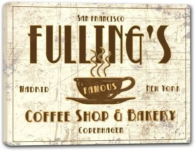 FULLING'S Coffee Shop & Bakery Canvas Sign (Fulling compare prices)
