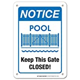 Notice Keep This Gate Closed Pool Sign - 10