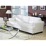 ACME 15095 Bonded Leather Sofa, White