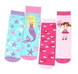 Totes Baby Slipper Socks 2pk Girl Princess