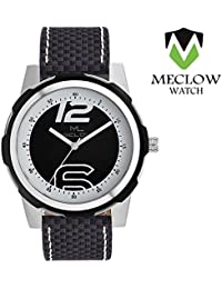 Latest Design Black Checks Design Leather Belt Watch, Round Black And White Dial Analog Watch For Men's/Boys Classic...