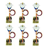 Aiskaer 6 Sets New Stepper Motor (5v Dc 4-phase 5-wire,28byj-48)+ Uln2003 Driver Board