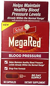 MegaRed Blood Pressure Olive Leaf Extract Supplement, 60 Count