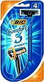 BIC Comfort 3 Pivot, Pack 4, Triple Blade Razor