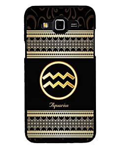 Printvisa 2D Printed Sunsign Aquarius Designer back case cover for Grand 3 - D4349
