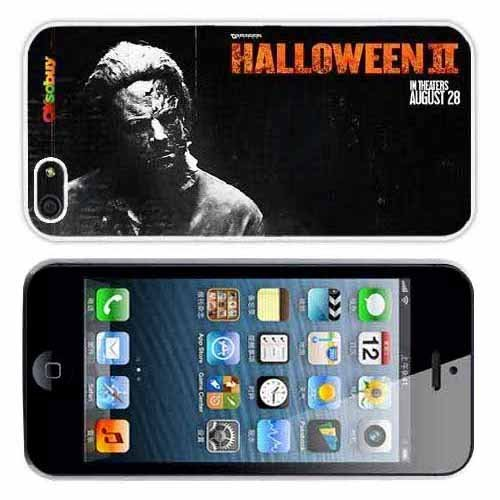Iphone 5 At&t Sprint Verizon Retail Packing New Releases Halloween Fashion Design Hard Case Cover Skin Protector (White Pc+pearlescent Aluminum) Fs-069