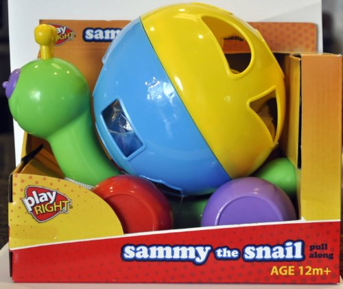 Sammy the Snail Pull Along Toy By Play Right