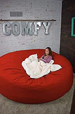 Bean Bag Bed 8-Foot Xtreem Oversized Bean Bag Chair in Twill