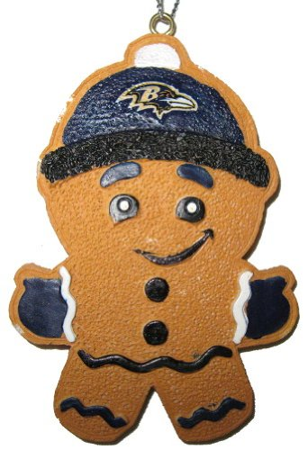 Baltimore Ravens Official NFL 3.5 inch Gingerbread Man Christmas Ornament