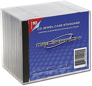 Mediapack CD-/ DVD Hülle Standard Case, transparent/schwarz