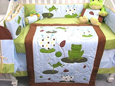 Froggies Party 13 Piece Crib Bedding Set by SoHo