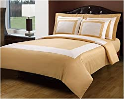 10-PC King Size Hotel Luxury Down Alternative Bed in A Bag, Gold