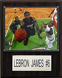 NBA LeBron James Miami Heat Player Plaque by Topps