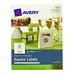 Amazon Com Avery Print To The Edge Square Labels 2 X 2