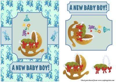 Baby Boy-Halterung von Hilary Hallas &Mobile