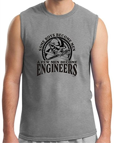 Created Equal, Some Boys Become Men Engineers Sleeveless T-Shirt Xl Sport Grey