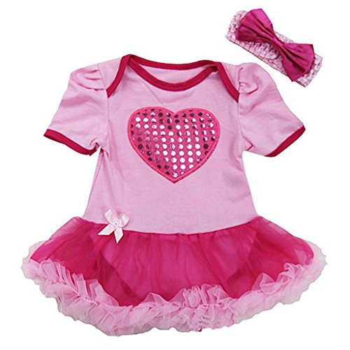 Baby Bling Heart Valentine's Day Costume Bodysuit Tutu