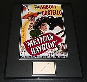 Virginia Grey Signed Framed 16x20 Photo Display JSA Mexican Hayride - Autographed... by Sports+Memorabilia