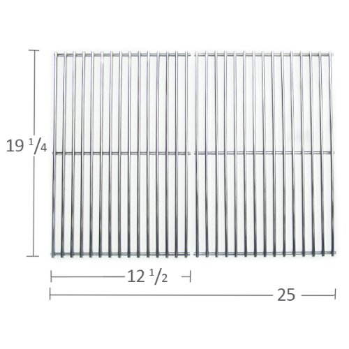 5S612 - Stainless Steel Cooking Grid For Brinkmann, Capt'N Cook, Charmglow, Jenn Air, Nexgrill & Turbo Gas Grill Models