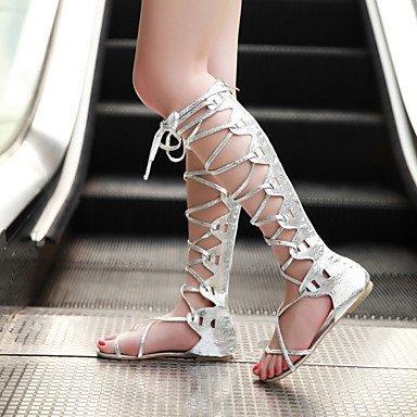 mujer-peep-toe-zapatos-zapatos-de-mujer-semicuero-tacon-plano-talon-descubierto-gladiador-sandalias-
