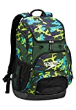 Speedo Teamster Backpack, Camo/Forrest Green, 35-Liter