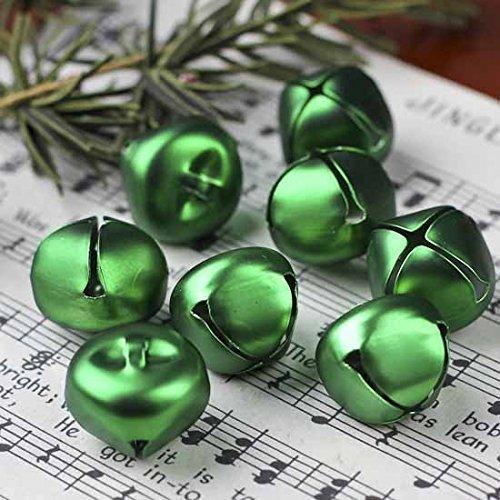 25pcs -- Kraft Jingle Bells -- Value Bulk Jingle Bells Decorative Supplies, (20 mm - 25 bells (Green))