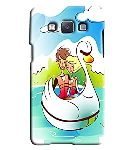 Clarks Couple In Duck Hard Plastic Printed Back Cover/Case For Samsung Galaxy E5