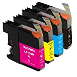 HI-VISION HI-YIELDS Compatible Ink Cartridge Replacement For Brother LC105 / LC107 XXL Super High Yield (1 Black...