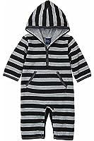 Dom&Lyn Baby Boys'(Age0-2) Romper Striped100% Cotton