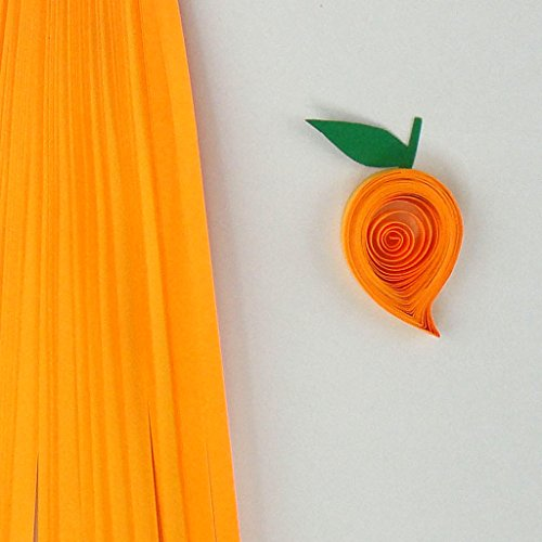 Quill On Quill On Quilling Strips, Mango Orange