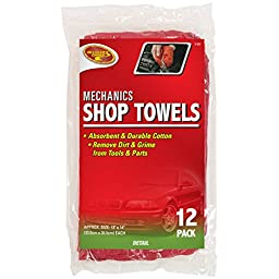 Detailer\'s Choice 3-537 Mechanics Shop Towels - 12-Pack