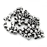 Beadnova Bail Style Black Plated Faceted Nugget Beads 3-3.5mm for Bracelet