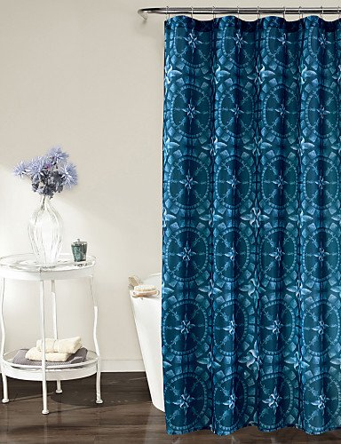 Lovely NDYB Tranditional Tie Dye Pattern Rectangle Shower Curtains  71x72inch,71x79inch , W71