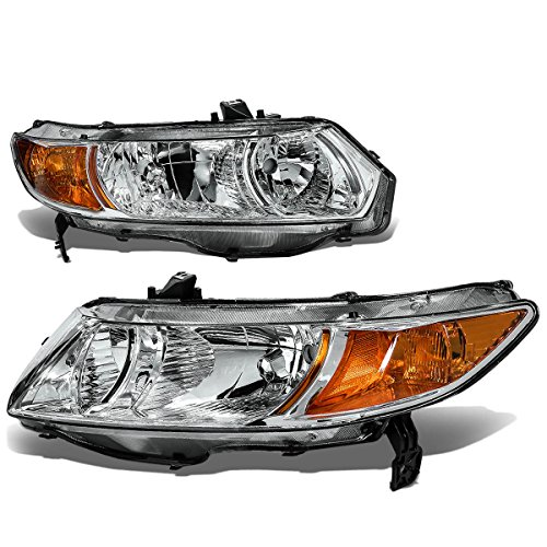 DNA Motoring HLOHHC062DCHAM Headlight Assembly (Driver & Passenger Side) (Fd2 Civic Fog Lights compare prices)