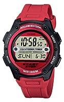 Casio CASIO Collection - Reloj digital de caballero de cuarzo con correa de resina roja (cronómetro, alarma, luz) - sumergible a 100 metros marca Casio